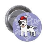 Navidad Staffordshire bull terrier Pin