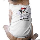 Navidad Staffordshire bull terrier Playera Sin Mangas Para Perro
