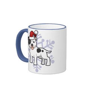 Navidad Staffordshire bull terrier Taza A Dos Colores
