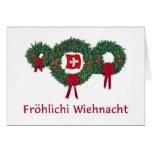 Navidad suizo 2 tarjetas