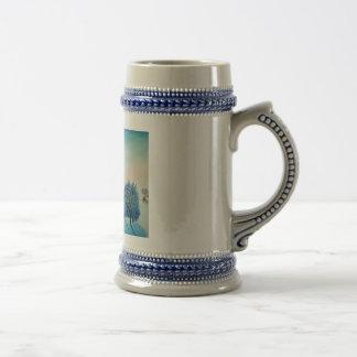 Navidad suizo del azul del opus taza de café
