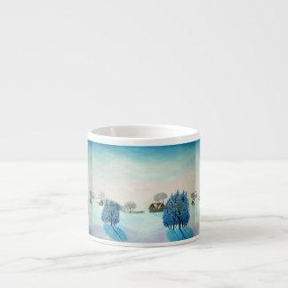 Navidad suizo del azul del opus taza de espresso