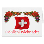 Navidad suizo tarjeta