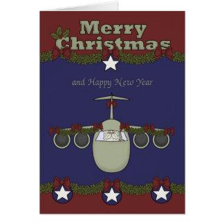 Navidad, tarjeta de felicitación de la fuerza