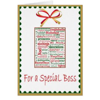 Navidad/tarjeta del día de fiesta para Boss Tarjeta De Felicitación