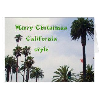 NAVIDAD tarjeta del ESTILO de CALIFORNIA