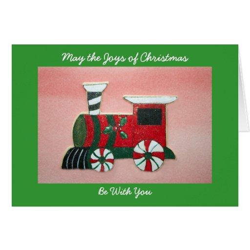 Navidad - tarjeta del tren del juguete del Año Nue