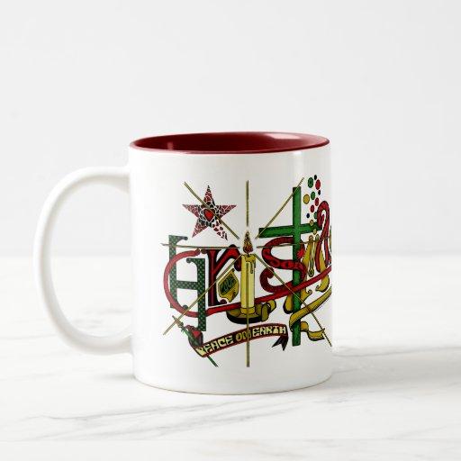 'Navidad Taza De Dos Tonos