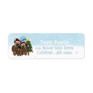 Navidad Teddys Etiquetas De Remite