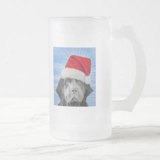 Navidad tempestuoso taza de cristal