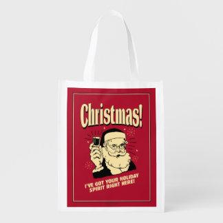 Navidad: Tengo su alcohol del día de fiesta a la Bolsa Reutilizable