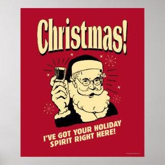 Navidad: Tengo su alcohol del día de fiesta a la Póster