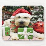 Navidad - Terrier de trigo - Bailey Alfombrillas De Raton