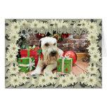 Navidad - Terrier de trigo - irlandés Felicitacion