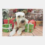 Navidad - Terrier de trigo - irlandés Toallas De Cocina
