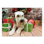 Navidad - Terrier de trigo - irlandés Tarjeta