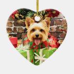 Navidad - Terrier sedoso - Haley Adorno De Navidad