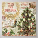 Navidad Tis del vintage la estación Póster