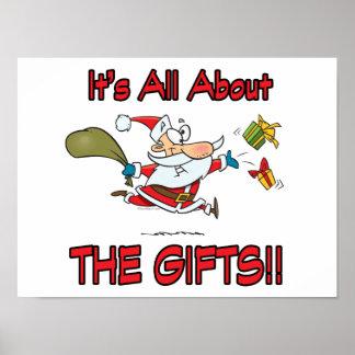 navidad todo sobre el humor de los regalos póster