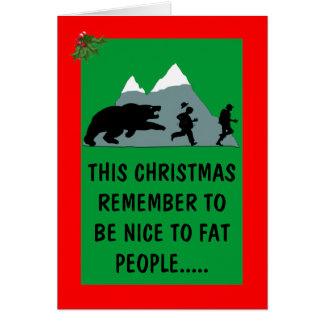 Navidad tonto tarjeton