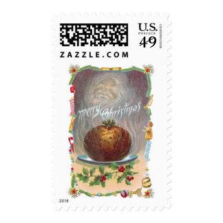 Navidad tórrido del vintage del pudín de ciruelo sellos