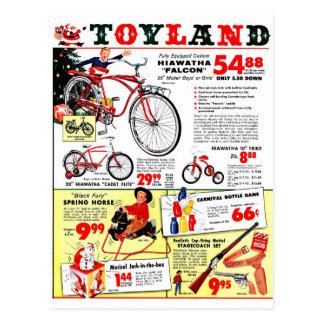 Navidad Toyland Tarjeta Postal