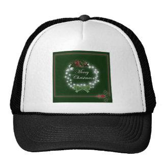Navidad tradicional guirnalda y muérdago gorra