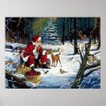 Navidad tradicional Santa en el parque Poster