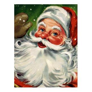 """Navidad tradicional Santa "" Postal"