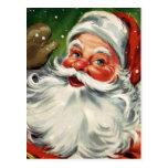 """Navidad tradicional Santa "" Tarjeta Postal"