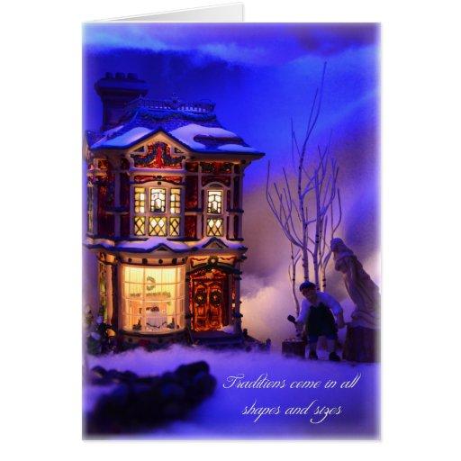 Navidad tradicional tarjeta de felicitación