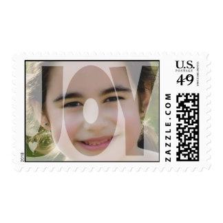 Navidad transparente mínimo de la alegría de la sello postal