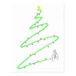 Navidad tree01 tarjeta postal