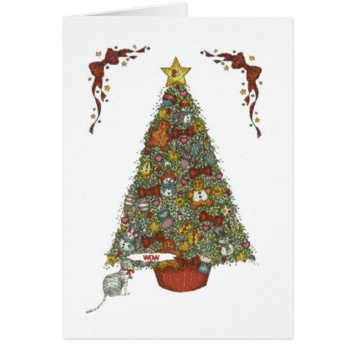 navidad tree1 tarjeta de felicitación