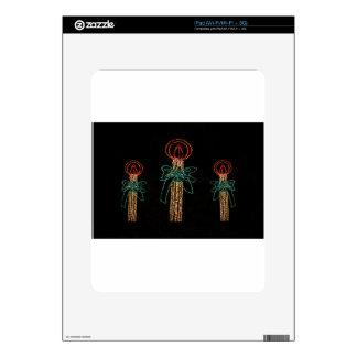 Navidad tres velas 2016 calcomanías para iPad