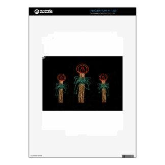 Navidad tres velas 2016 iPad 2 skins