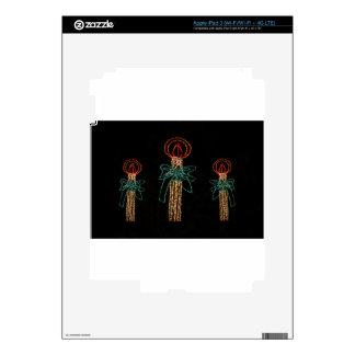 Navidad tres velas 2016 pegatinas skins para iPad 3