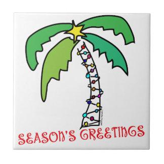 Navidad tropical tejas