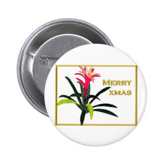 Navidad tropical Bromeliad Pins