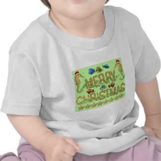 Navidad tropical del filón camiseta