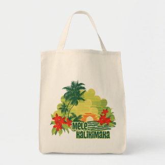 Navidad tropical del Hawaiian de la isla de Mele Bolsa Tela Para La Compra