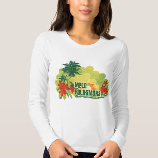 Navidad tropical del Hawaiian de la isla de Mele Playera