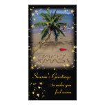 Navidad tropical tarjeta fotográfica