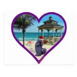 navidad tropical tarjeta postal