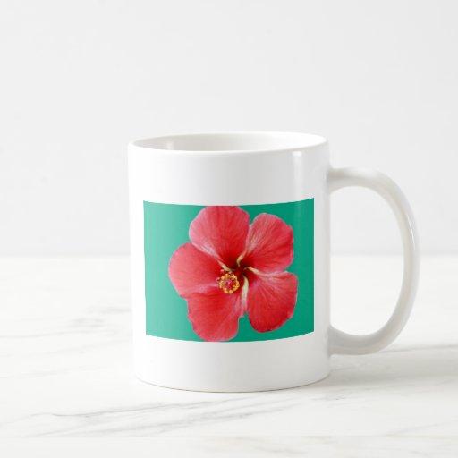 Navidad tropical taza básica blanca