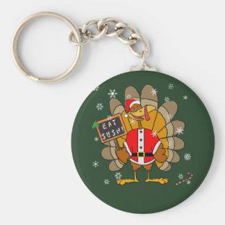 Navidad Turquía Llavero Personalizado
