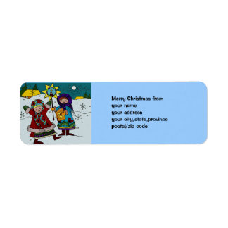 Navidad ucraniano Carollers Etiquetas De Remite
