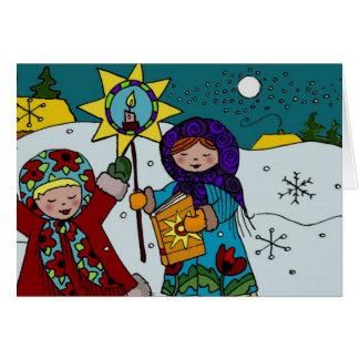 Navidad ucraniano Carollers Tarjetas