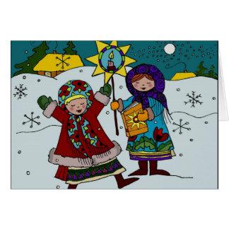 Navidad ucraniano Carollers Felicitaciones