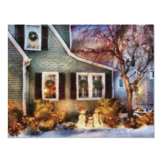 Navidad - un momento de la familia invitación personalizada
